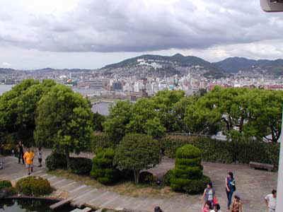 Panoramica della città dallo splendido Glover Garden